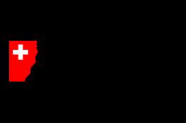 Logo du gouvernement suisse - une croix blanche dans un bouclier rouge, à côté du texte noir 'Schweizerische Eidgenossenschaft Confédération suisse Confederazione Svizzera Confederaziun svizra'