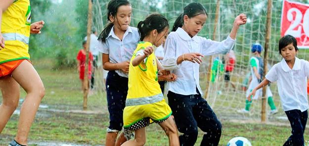 9 Cu, bannière de football de Phan pour tous au Vietnam
