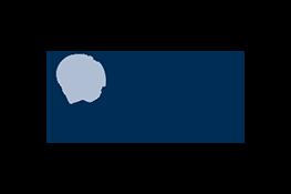 Le logo Oak Foundation - le texte bleu «Oak Foundation». À l'intérieur du «O» se trouve un globe.