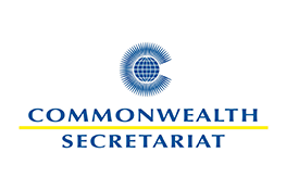 The Commonwealth Secretariat logo - a blue globe on top of the blue text 'Commonwealth Secretariat' divided by a yellow line.
