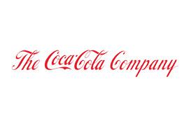 Le logo de la société Coca-Cola. Texte de police cursive rouge 'The Coca-Cola Company' sur fond blanc.